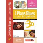 200 plans blues guitare 3d Daniel-Pochon
